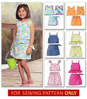 SEWING PATTERN! MAKE GIRLS TOPS~SKORTS~SHORTS! SUMMER CLOTHES!  SIZES 2 TO 8