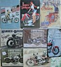 Metal Harley Davidson Motorbike Signs Plaques Vintage Mancave Garage Shop Retro $7.76 USD on eBay