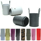 Brush Box Pencil Pouch Happy Brushes Tube PU Leather Cosmetic Cup Makeup Pen