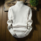 New Men Slim Warm Knit Sweater High Neck Jumper Top Turtleneck Winter Pullover