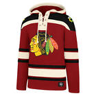 Chicago Blackhawks 47 Brand Red Embroidered Lacer Hooded Jersey Sweatshirt
