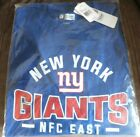 New York Giants NFC East Men's Blue T-Shirt ~ Choice of Size ~ New w/Tags!