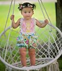 Haute Baby 1pc Floral Fantasy Sunsuit Baby Girl Outfit Summer 19  6/9 18m 24m