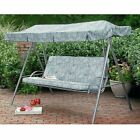 Palermo Green Floral Replacement Canopy For 3 Person Swing