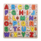 Wooden Colorful Alphabet Number Puzzle Educational Toy For Preschool Toddler DD