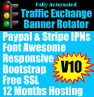 v10 traffic hits url banner rotators 12 months hosting free ssl work from home