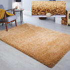 THICK CHUNKY PLUSH SOFT ATHENA CARAMEL OCHRE SHAGGY LUXURY DEEP PILE RUG
