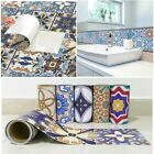 Fashion Vinyl Removable Vintage Tile Decals Wall Stickers Diy Mural Home Decor