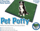 Pet Potty Indoor Toilet Dog Puppy Large Training Portable Grass Mat Loo Pad Tray