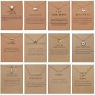 Womens Animal Owl Elephant Clavicle Paper Card Necklace Pendant Gold Chain Gifts image