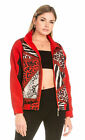 Dance & Marvel Women's Animal Print Nylon Jacket
