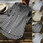 US Women Lady V Neck Long Sleeve Casual Loose Baggy Tunic Tops Blouse Plus Size