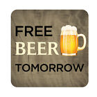 Free Beer Tomorrow Patio Sign Plaque, Metal Outdoor Beach Pool Party Decor Sign