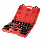 Front Wheel Drive Bearing Removal Adapter Puller Pulley Tools Kit Case 23 Pieces