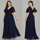 Ever-Pretty Women Deep V-Neck Plus Size Summer Evening Maxi Dresses 09890