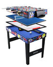 """4 in 1 Multi Game Table for Kids 31.5"""" Steady Combo Game Soccer Foosball Table"""
