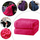 1*Coral Warm Fleece Blanket Deluxe Super Soft Adult Home Throw Sofa Bed Flannel image