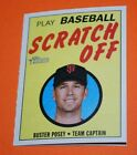 2019 topps Heritage BASEBALL SCRATCH OFF INSERTS you PICK FINISH YOUR SET TROUT