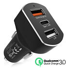 Fast Car Charger Adapter 8.4A 5.4A USB QC 3.0 for iPhone Samsung S10, Huawei HTC