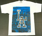 LOS ANGELES T-shirt LA City Of Angels Baseball Tee 100% Cotton Mens White New on Ebay