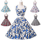 GK Vintage Ball Gown Sexy Backless Halter Evening Party Picnic Dress Swing Dress