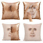 Sequins Pillow Cases Nicolas Cage Mermaid Pillows Funny Cushion Cover Gifts
