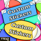 Full Color Stickers Pack Of 50 Your Logo Custom Vinyl Sticker Prints Vwaq-mm247