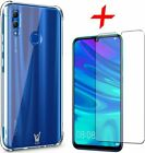 Shockproof Clear AIR Case Cover & Glass Screen Protector For Huawei P Smart 2019