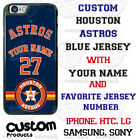 Houston Astros Personalize Blue Baseball Jersey Phone Case Cover for iPhone etc. on Ebay