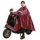 Outdoor Bike Motorcycle Raincoat Cover Sleeve Protector Cape Poncho with Cap Bri