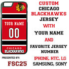 Chicago Blackhawks Personalized Hockey Jersey Phone Case Cover for iPhone etc. $26.98 USD on eBay