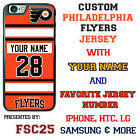 Philadelphia Flyers Hockey Jersey Phone Case Cover Customized for iPhone etc.