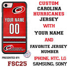 Carolina Hurricanes Personalized Hockey Jersey Phone Case Cover for iPhone etc. $20.98 USD on eBay