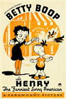 Betty Boop With Henry 1935 Movie Poster $39.99 AUD on eBay