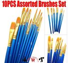 Multi Professional Art Artist Paint Brush Set Oil Acrylic Watercolour 4/10/12pcs