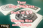 Bamboo Poles Home Decor Custom Logo Stickers Pack Of 50 Your Logo Design Vinyl Sticker Prints VWAQ-2441 Universal Home Decor