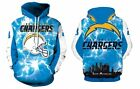 New w. Minor Defect! Los Angeles Chargers Hoodie Medium-XXL 2XL Unisex Men Women $21.99 USD on eBay