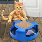 Cat Mouse Play Toy with Scratching Post Pad for Pup Animal Interactive Training