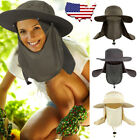 Outdoor Sun Protection Fishing Cap Neck Face Flap Hat Wide Brim Cover Summer
