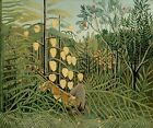 "Henri Rousseau Fine Art Painting Poster or Canvas Print ""In a Tropical Forest"""
