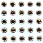 3D-Holographic Fishing Lure Eyes for Fly Tying Stickers 4MM, 5MM, 6MM, 7MM, 8MM