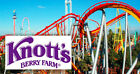 Knotts Berry Farm or Soak City General Admission (2X) TWO Single Day E-Tickets!