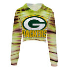 Green Bay Packers Crop Top Hoodie S/M L/XL XXL Football Half Shirt Tie Dye Pack on eBay