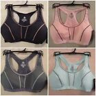 NEW RBX Medium Support Gray Pink Black Green Blue Padded Mesh Back Sports Bras