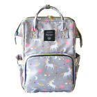 LQUEEN Unicorn Waterproof Diaper Bags Backpack Large Capacity Travel Backpacks