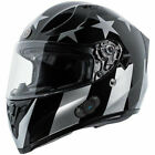 Torc T15B Bluetooth Motorcycle Helmet - Gloss Black Captain Shadow - CHOOSE SIZE