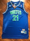 New Kevin Garnett Minnesota Timberwolves Throwback Swingman Jersey Blue S-XXL