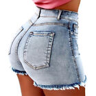 Vintage Women Strench Denim Summer High Waisted Shorts Slim Jeans Casual Hotpant