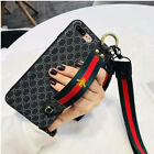 French Goyard/Gucci luxury Leather phone case for Iphone 6 6S 7 8 Plus X XR XS