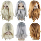 Straight Wig Full Beard Braided Cosplay Party Terror of the Sea Pirate Costume